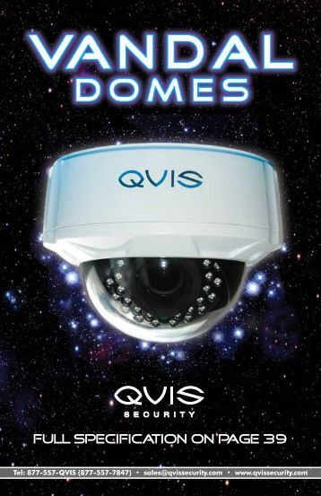 fULL SPECIFICATION on Page 39 - Qvis Security