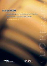 Rapport d'activités DORE - Schweizerischer Nationalfonds (SNF)