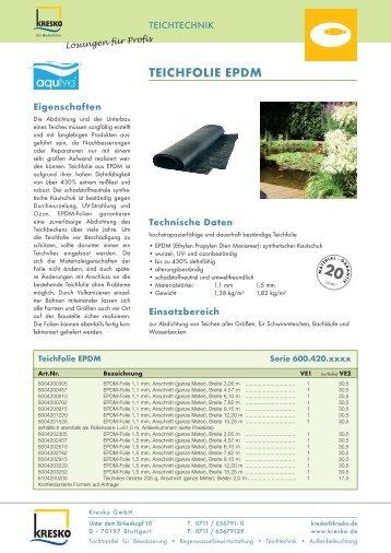 TEICHFOLIE EPDM - Kresko GmbH - Fachhandel für Gartentechnik