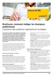 Astuce-MD - Brochures: comment rédiger les classiques publicitaires