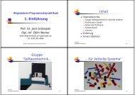 1. Einführung - Gruppe Softwaretechnik für Verteilte Systeme