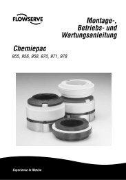 Montage-, Betriebs- und Wartungsanleitung Chemiepac - Flowserve ...