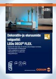 Dekoratiiv-ja eluruumide valgustid: LEDs DECO® FLEX. - OSRAM
