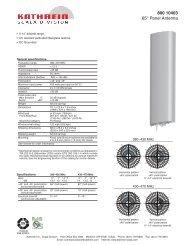 800 10403 65° Panel Antenna - Kathrein Scala Division