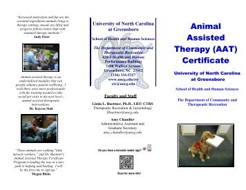 Animal Assisted Therapy (AAT) Certificate - The University of North ...