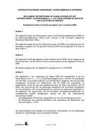 Reglement voor aansluitingen elektriciteit - laagspanning - Intergem