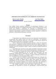 Aprendizagem Cooperativa em Ambientes Telemáticos - Grupo de ...