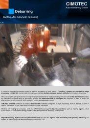 Deburring - CIMOTEC Automatisierung Gmbh
