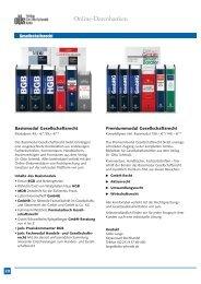 Online-Datenbanken - Verlag Dr. Otto Schmidt