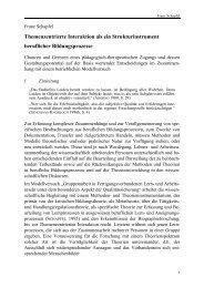 Themenzentrierte Interaktion als ein Strukturinstrument - KIBB