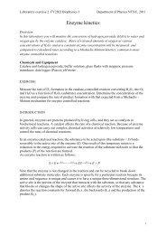 Enzyme kinetics - NTNU