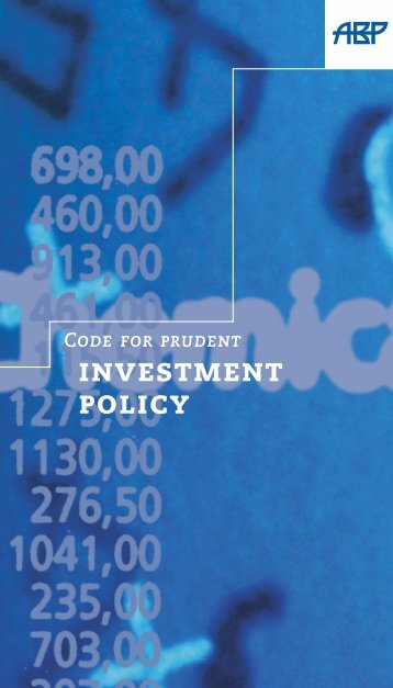 ABP Investment Code - World Bank