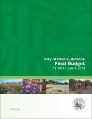 FY2014 Final Budget FY 2008 Schedules - City of Peoria, Arizona