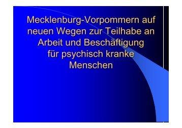 Präsentation - Sozialpsychiatrie Mecklenburg Vorpommern