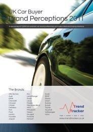 UK Car Buyer Brand Perceptions 2011 - Trend Tracker