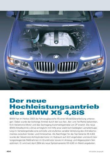 Der neue Hochleistungsantrieb des BMW X5 4,8iS - X5-Sport.de