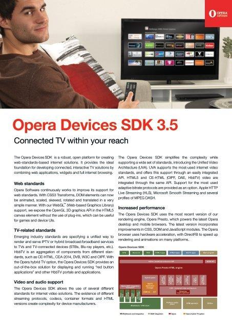 Opera Devices SDK 3 5