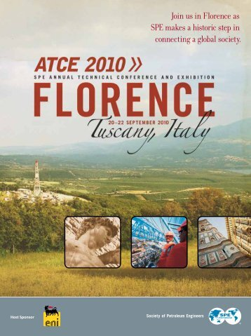 Join us in Florence as SPE makes a historic step - Society of ...