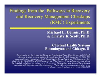 In Recovery - Chestnut Health Systems