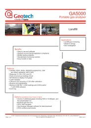 Geotechnical Instruments GA5000 - Thermo Fisher