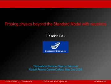 Probing physics beyond the Standard Model with ... - TU Dortmund