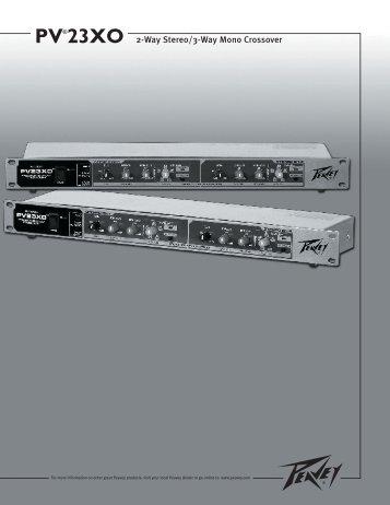 PV®23XO 2-Way Stereo/3-Way Mono Crossover - MI Engineering