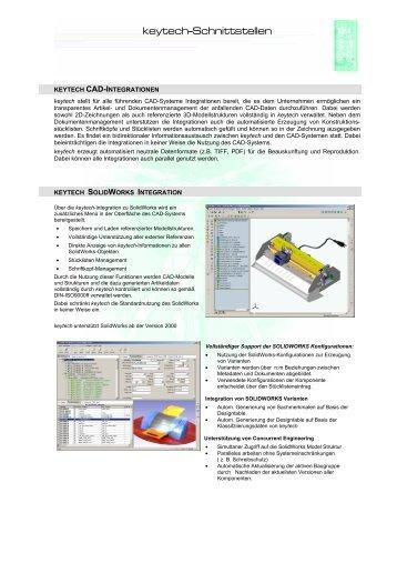 keytech-Schnittstellen - Solid Solutions AG