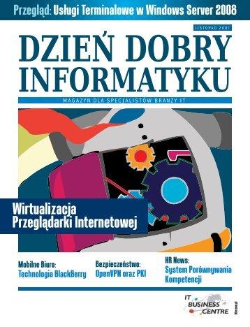 Wirtualizacja Przeglądarki Internetowej - Dzień Dobry Informatyku