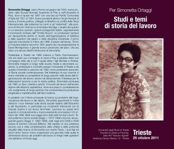 Programma - Università degli Studi di Trieste