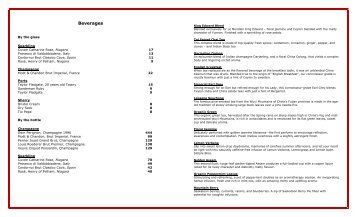 January 2012 Tea Menu - Starwood Hotels & Resorts