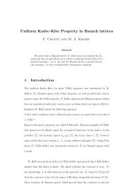 Uniform Kadec-Klee Property in Banach lattices 1 Introduction