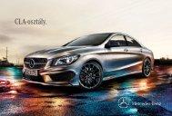 A Mercedes-Benz CLA-osztály katalógus letöltése magyar nyelven