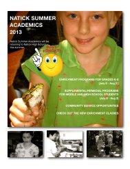 NSA Brochure 2013 draft pages-1 - Natick Public Schools