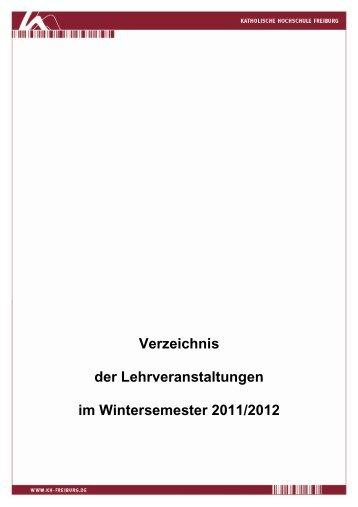 Wintersemester 2011/12 - Katholische Hochschule Freiburg