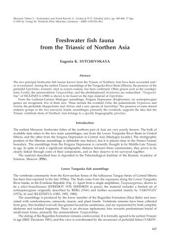 Freshwater fish fauna from the Triassic of Northen Asia - Verlag Dr ...