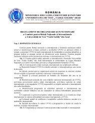 Regulament Comisia pentru relatii nationale si internationale