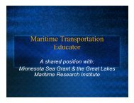 Education and Outreach Update - Great Lakes Maritime Research ...