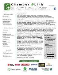 January 2013 Newsletter (pdf) - Davie County Chamber of Commerce