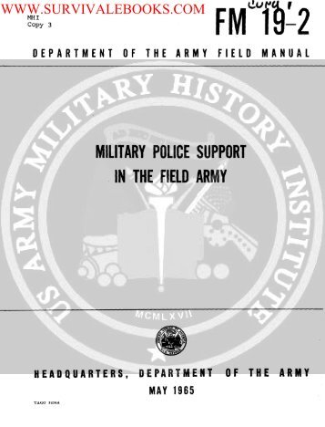 FM 19-2 ( Military Police Support in the Field Army ... - Survival Books
