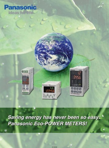 Saving energy with Eco-power meters - Panasonic Electric Works ...