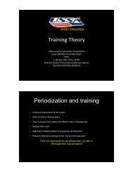 Training Theory and Periodization - USSA