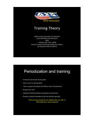 Training Theory and Periodization - USSA