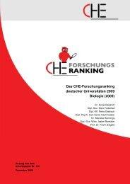 Das Che-Forschungsranking deutscher Universitäten 2009 Biologie ...