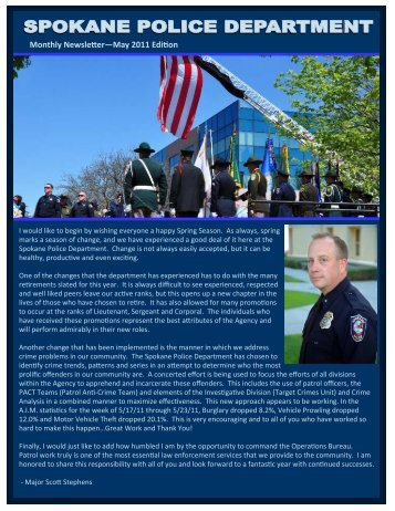 May 2011 Edition SPD Newsletter - Spokane Police Department