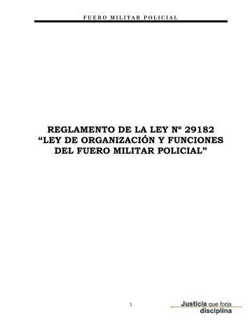 Reglamento de la Ley N° 29182