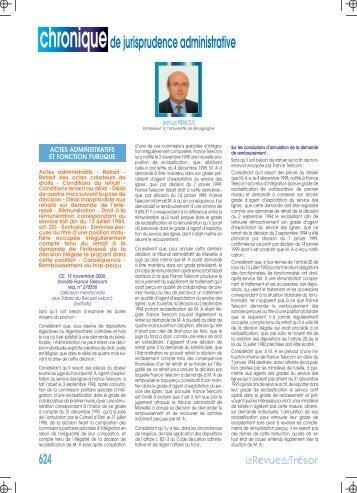 jurisprudence administrative - Gestion et Finances Publiques La revue
