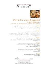 Weihnachtsprogramm 2011-2012 - Relais-Chalet Wilhelmy
