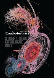 street gear catalogue 2011 - Audio Technica