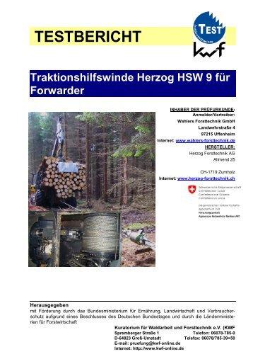 TESTBERICHT Traktionshilfswinde Herzog HSW 9 für Forwarder
