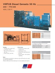 VIRTUS Diesel Gensets 50 Hz 650 – 770 kVA - TransDiesel